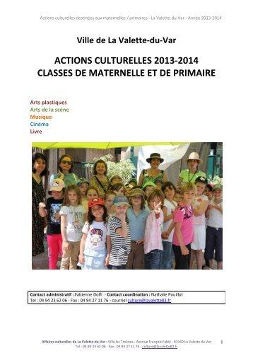 Maternelles / Primaires - Ville de La Valette-du-Var