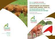 groupement de défense sanitaire animal (gds-a) - Chambre d ...