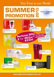 DSD Promotion Summer 2013 - Diplomatic Supply Europe
