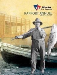 Le rapport annuel - Musée de la Gaspésie