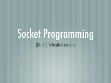 TD Java: Programmation Réseau par sockets TCP