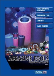 Abrasive Tools Catalogue - Factory Max CO., LTD