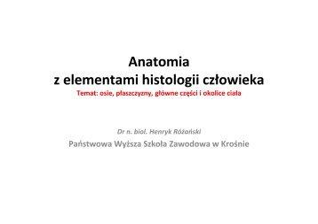 Anatomia z elementami histologii człowieka - luskiewnik.strefa.pl