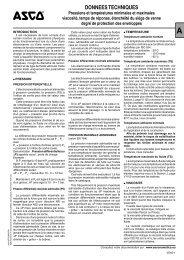DONNEES TECHNIQUES - ASCO Numatics