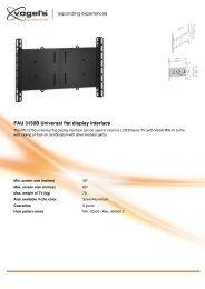 FAU 3150B Universal flat display interface
