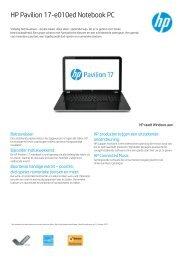 PSG Consumer 2C13 HP Notebook Datasheet