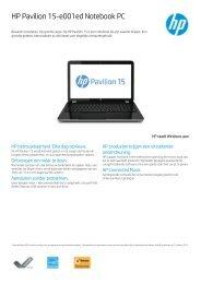 PSG Consumer 2C13 HP Notebook Datasheet - Electrocorner