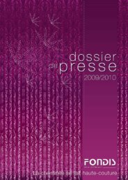 FONDIS - Dossier de Presse 2009 / 2010 - Reussir son habitat