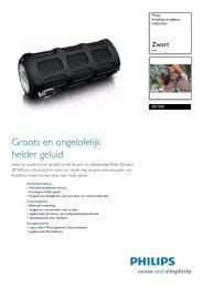 SB7200/12 Philips draadloze draagbare luidspreker