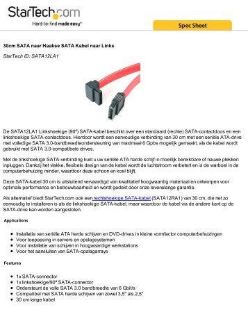 30cm SATA naar Haakse SATA Kabel naar Links StarTech ID ...