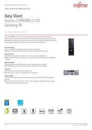 Data Sheet Fujitsu ESPRIMO C720 Desktop PC