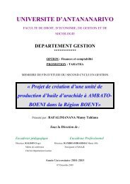REMERCIEMENTS - Thèses malgaches en ligne