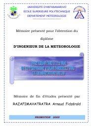 Mémoire présenté pour l'obtention du diplôme D'INGENIEUR DE LA ...
