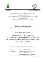 Chapitre I : La régulation : défis et opportunités (ok)