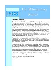 The Whispering Runes - Dallas IFGS