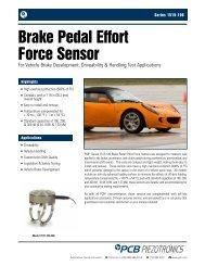 Brake Pedal Effort Sensor - Thermo Fisher