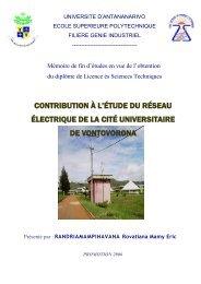 contribution à l'étude du réseau électrique de la cité universitaire de ...
