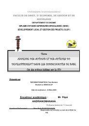 ANALYSE DES ACTIONS ET DES ACTEURS DU ...