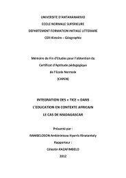integration des « tice - Thèses malgaches en ligne