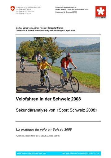 Velofahren in der Schweiz 2008 - sportobs.ch