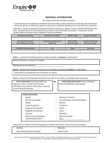 C15625_1-10 PHI Release Authorization Form - Blue Shield of ...