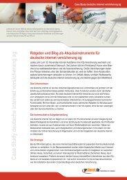 Case Study deutsche internet versicherung ag - Prdienst.de