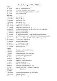 Terminplan für das Schuljahr 2013/14 - Bergschule St. Elisabeth