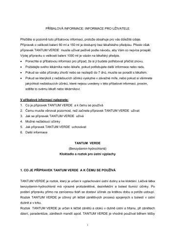 PŘÍBALOVÁ INFORMACE: INFORMACE PRO ... - Dr. Max Lékárna