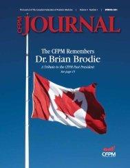 Spring 2011 - Canadian Federation of Podiatric Medicine