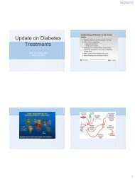 Update on Diabetes Treatments