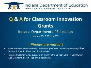 Classroom Innovation Grant Competitive Program 2011 - Richmond ...