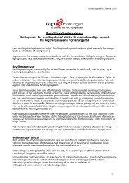 Bevillingsbetingelser for projektstøtte og stipendier ... - Gigtforeningen
