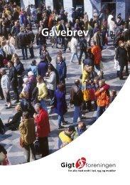 Gavebrev - Gigtforeningen
