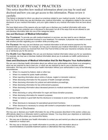Privacy Notice Form - Opt Out with Affiliate Marketing - Class Act ...
