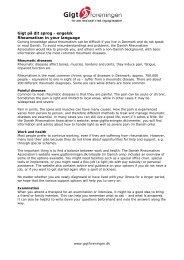 Gigt på dit sprog - engelsk - leddegigt - Gigtforeningen