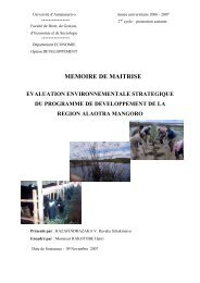 memoire de maitrise evaluation environnementale strategique du ...