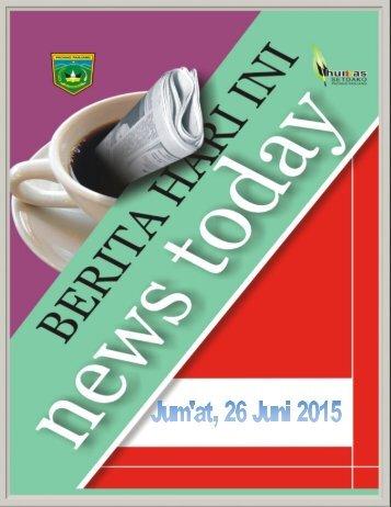 Kliping Berita Padang Panjang Hari Jum'at, 26 Juni 2015