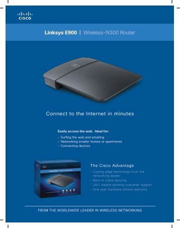 Linksys E900 | Wireless-N300 Router Connect to the Internet in ...