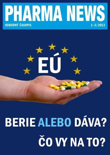 ODBORNÝ ČASOPIS 1–3/2013 - pharma news