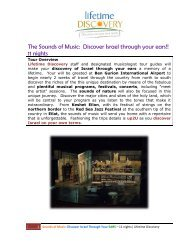 The Sounds of Music: Discover Israel through your ears!! 11 nights