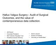 Hallux Valgus Surgery:- Audit of Surgical Outcomes, and the value ...