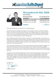 Monatsbericht Mai 2008
