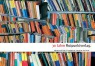 30 Jahre Rotpunktverlag.