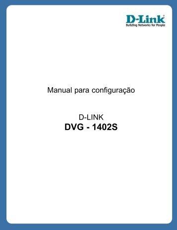 Manual D-LINK DVG-1402s - Fone TPA