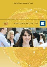 MSc 2013-14 - BI Norwegian Business  School