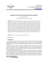 Employee motivation and organizational performance - Review of ...