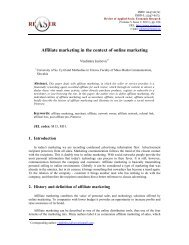 Affiliate marketing in the context of online marketing - Review of ...