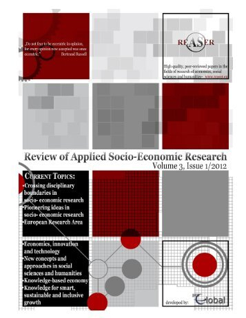 Volume 3, ISSUE1/2012 - Review of Applied Socio-Economic ...