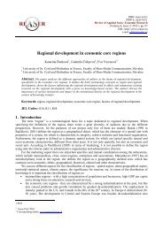 Regional development in economic core regions - Review of ...