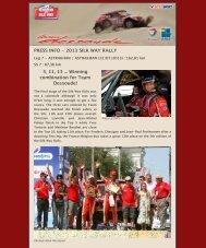 2013 SILK WAY RALLY: Leg 7 and Finish ... - Team Dessoude